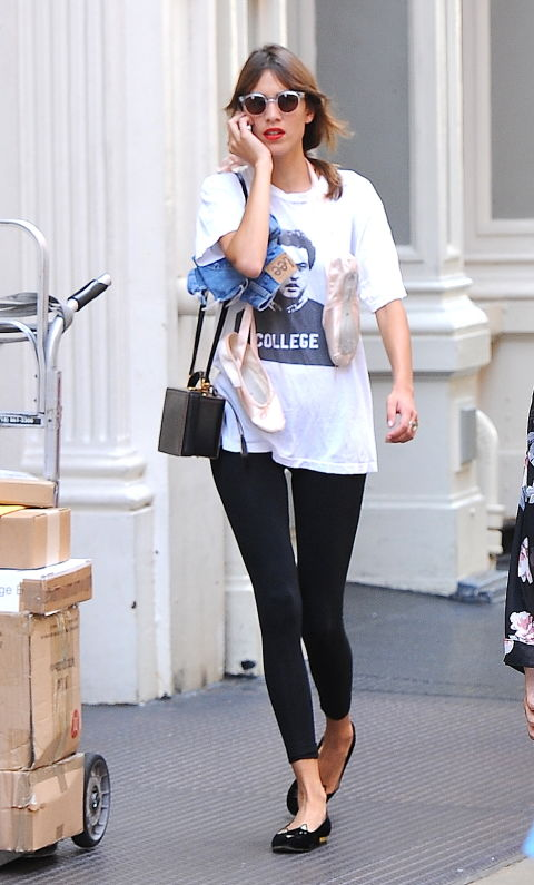 celebrities wearing t-shirts
