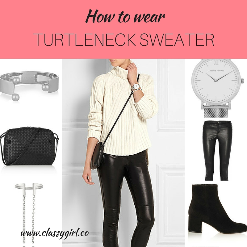 how to wear turtleneck sweater